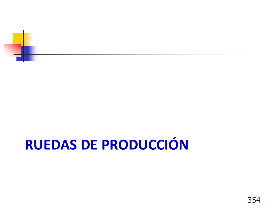 Ruedas de producción