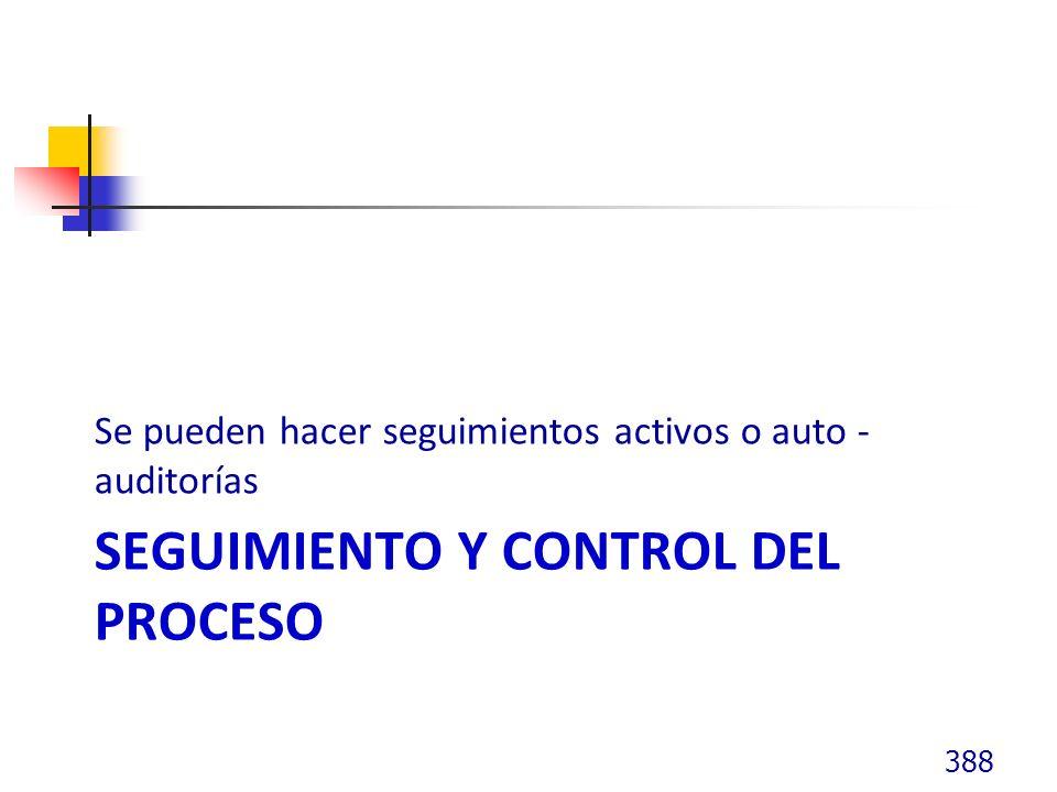 Seguimiento y control del proceso