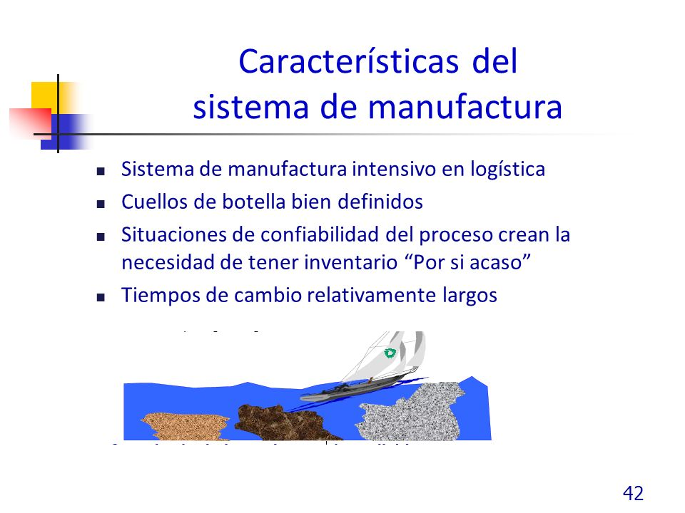Características del sistema de manufactura