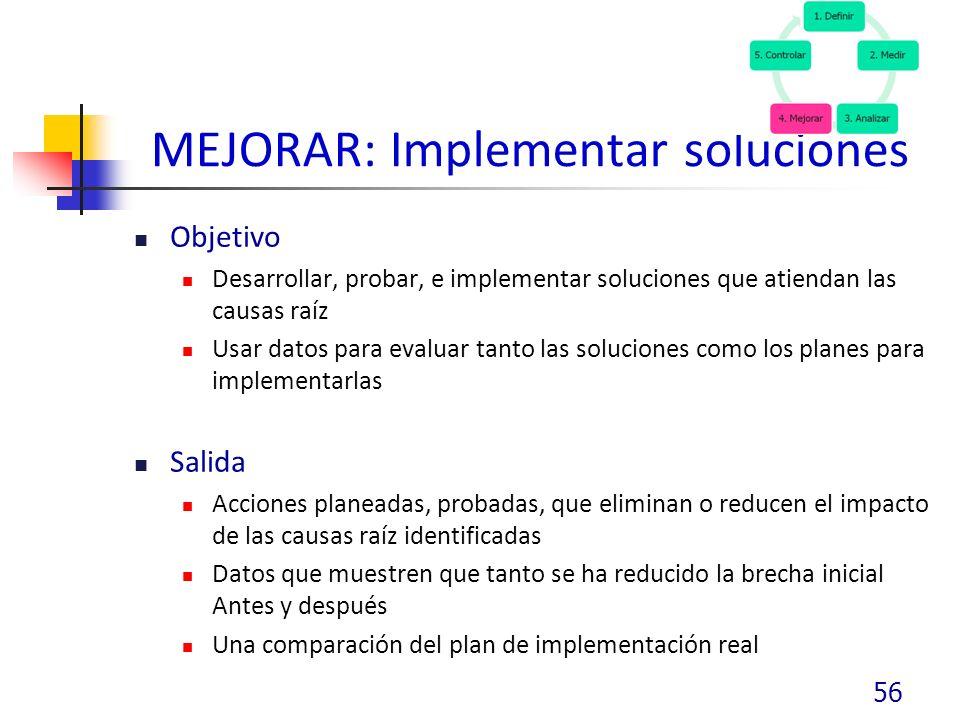 MEJORAR: Implementar soluciones