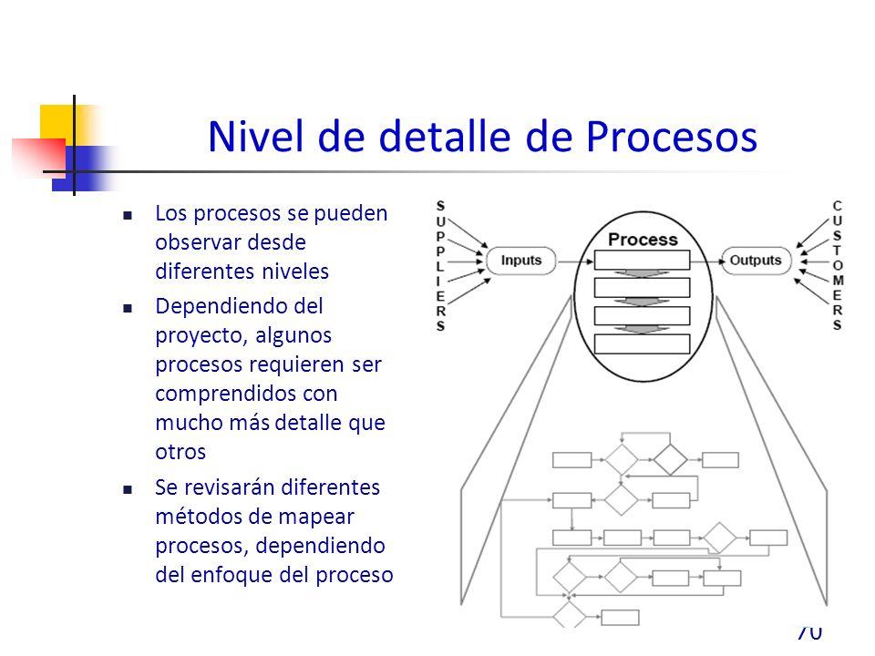 Nivel de detalle de Procesos