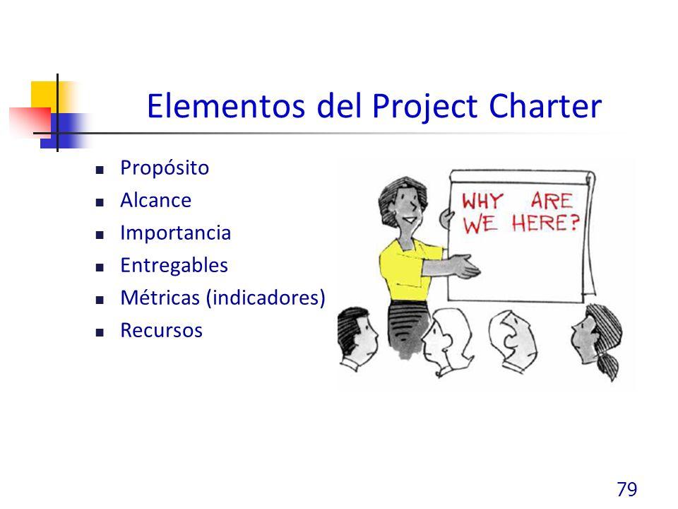 Elementos del Project Charter