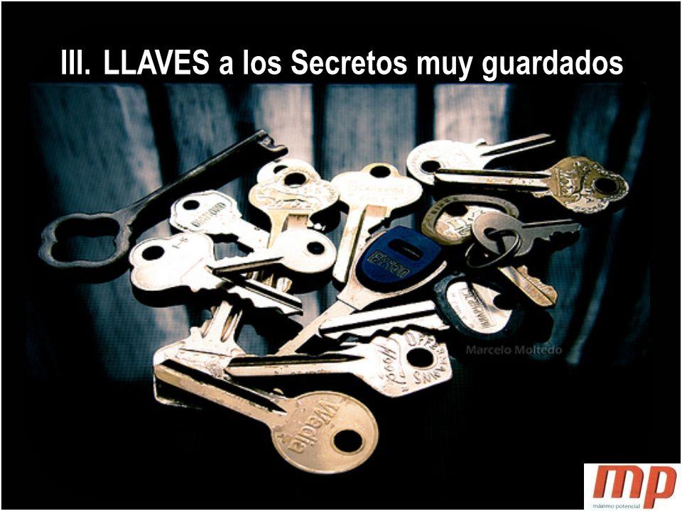 LLAVES a los Secretos muy guardados