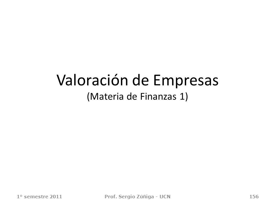 Valoración de Empresas (Materia de Finanzas 1)