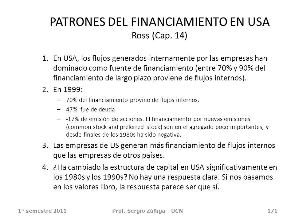 PATRONES DEL FINANCIAMIENTO EN USA Ross (Cap. 14)