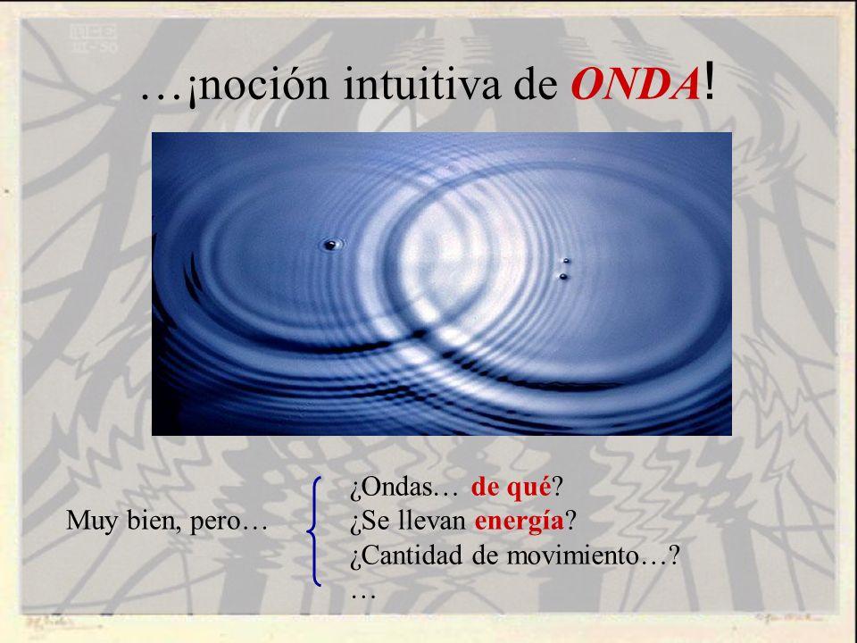 …¡noción intuitiva de ONDA!