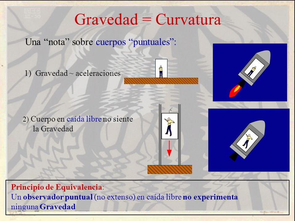 Gravedad = Curvatura Una nota sobre cuerpos puntuales :