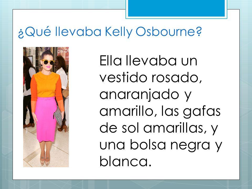 ¿Qué llevaba Kelly Osbourne