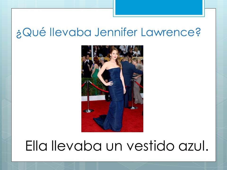 ¿Qué llevaba Jennifer Lawrence