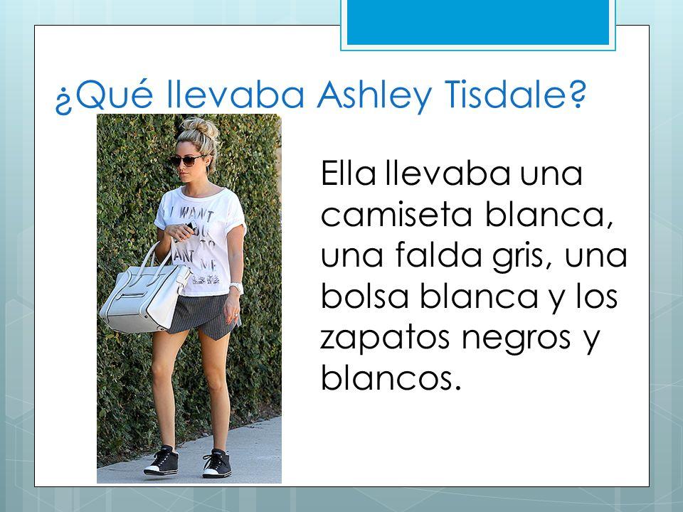 ¿Qué llevaba Ashley Tisdale