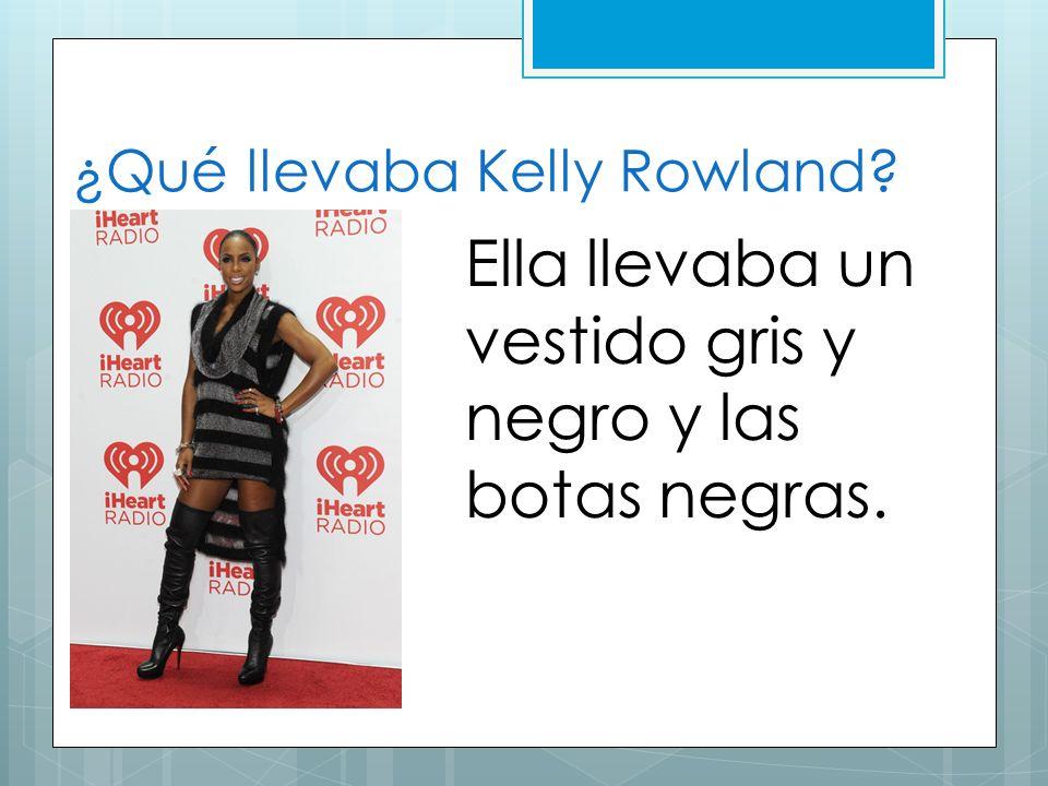 ¿Qué llevaba Kelly Rowland