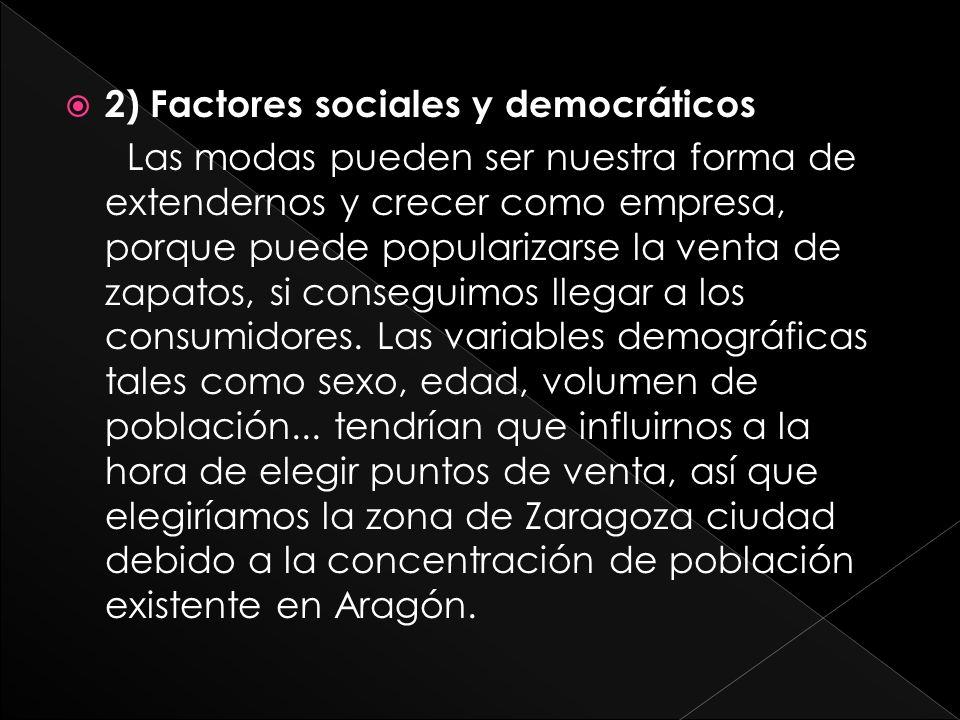 2) Factores sociales y democráticos