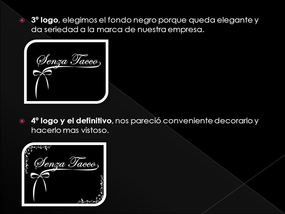 3º logo, elegimos el fondo negro porque queda elegante y da seriedad a la marca de nuestra empresa.