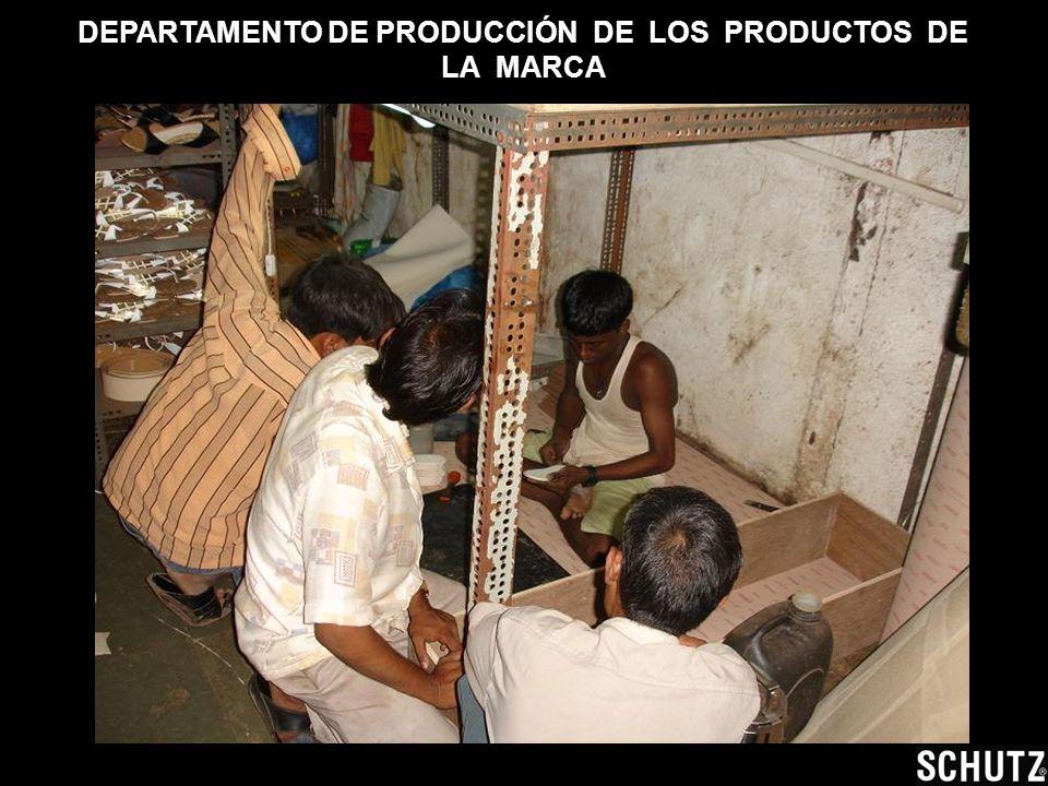 DEPARTAMENTO DE PRODUCCIÓN DE LOS PRODUCTOS DE LA MARCA