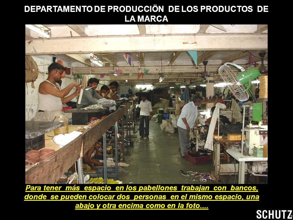 DEPARTAMENTO DE PRODUCCIÖN DE LOS PRODUCTOS DE LA MARCA