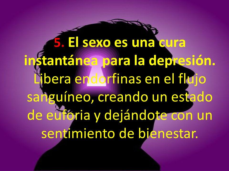 5. El sexo es una cura instantánea para la depresión