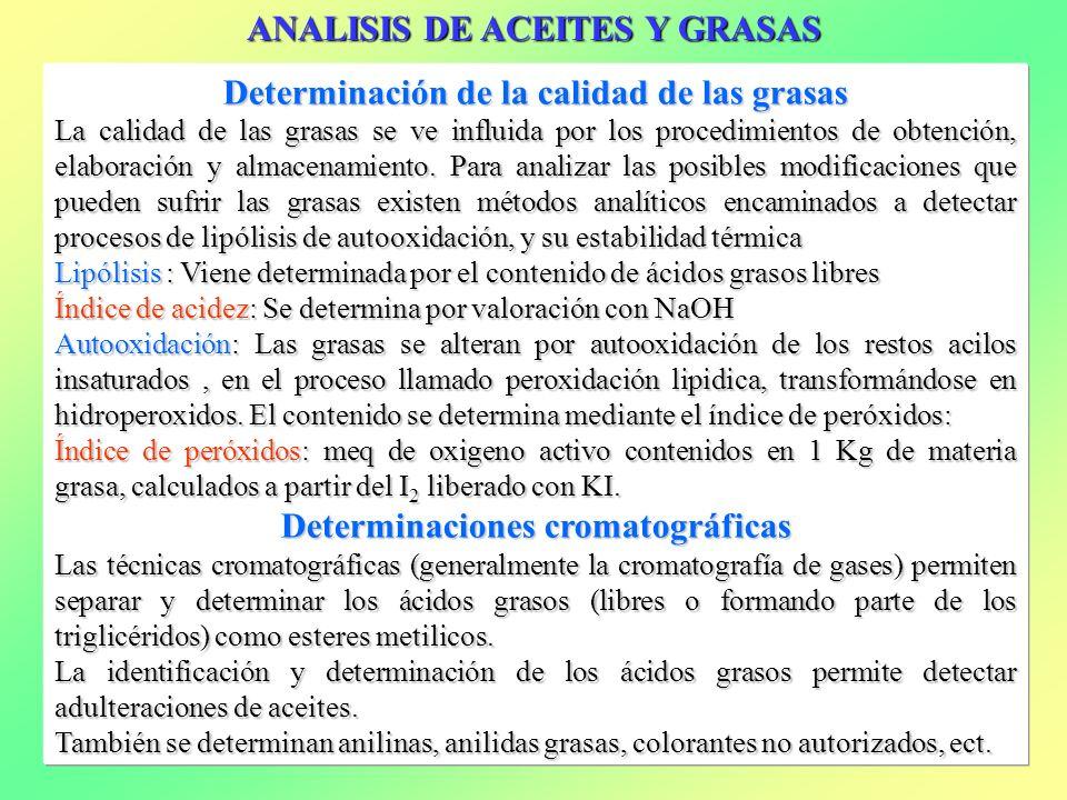 ANALISIS DE ACEITES Y GRASAS