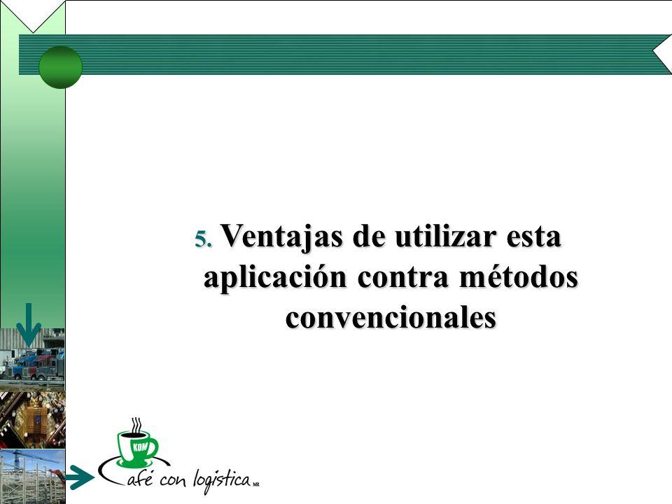 Ventajas de utilizar esta aplicación contra métodos convencionales