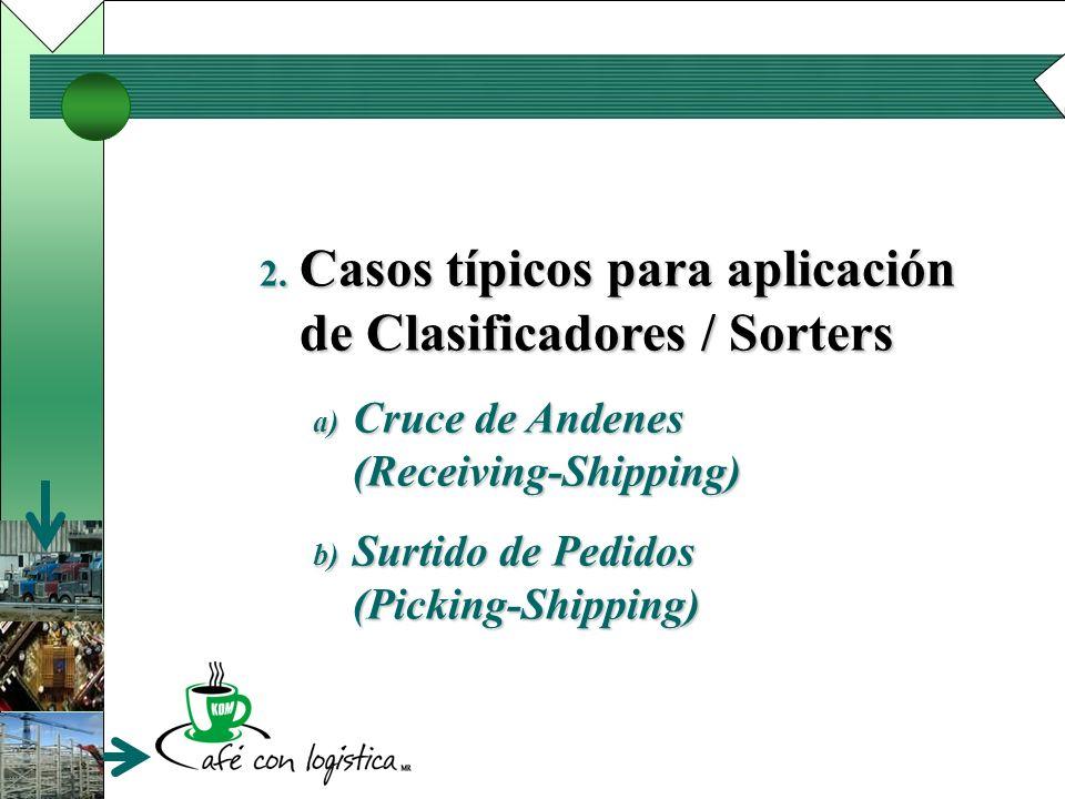 Casos típicos para aplicación de Clasificadores / Sorters