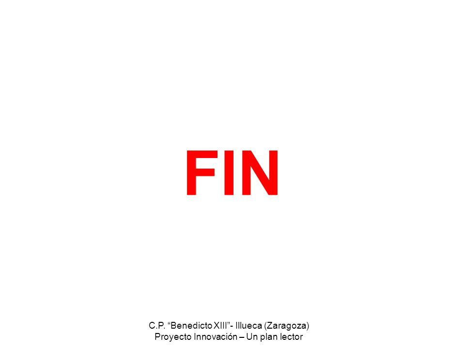 FIN C.P. Benedicto XIII - Illueca (Zaragoza)