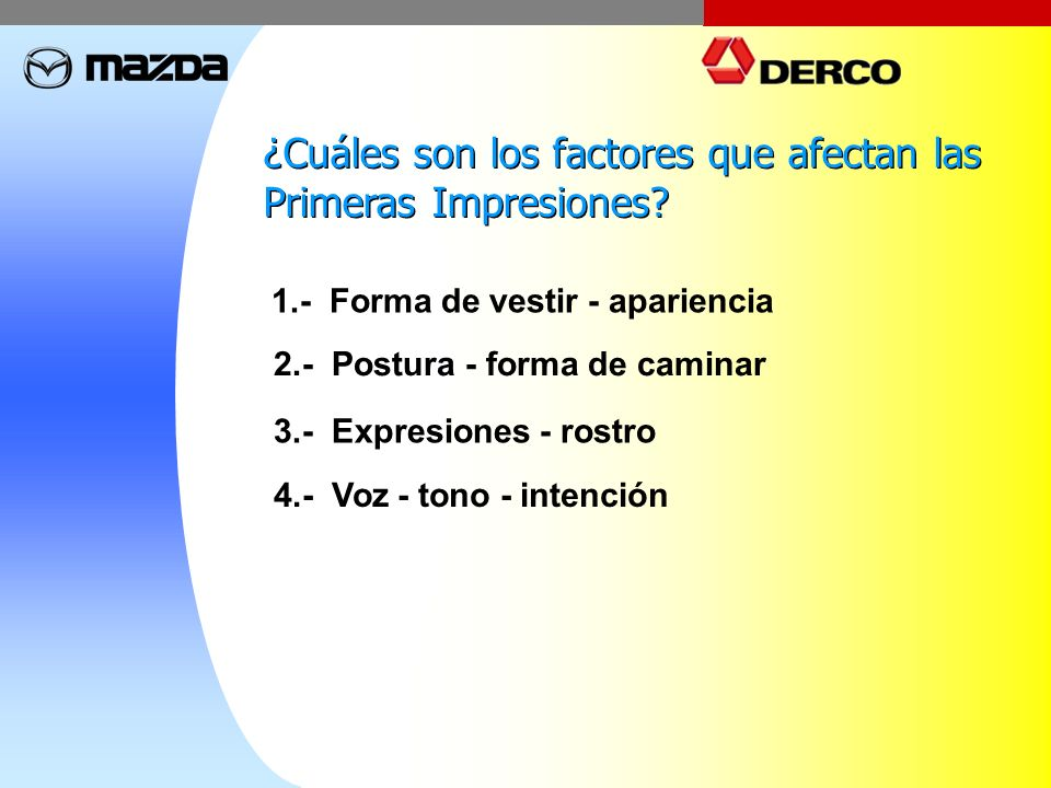 ¿Cuáles son los factores que afectan las Primeras Impresiones
