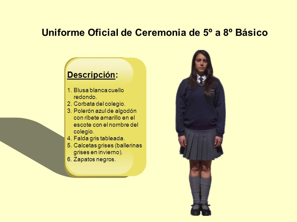 Uniforme Oficial de Ceremonia de 5º a 8º Básico