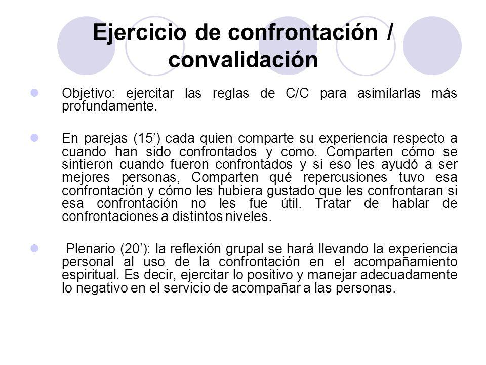 Ejercicio de confrontación / convalidación