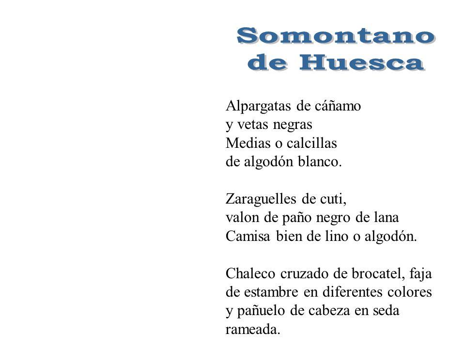 Somontano de Huesca Alpargatas de cáñamo y vetas negras
