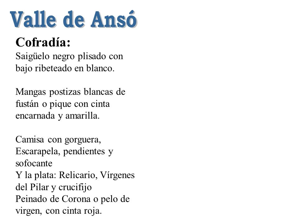 Valle de Ansó Cofradía: