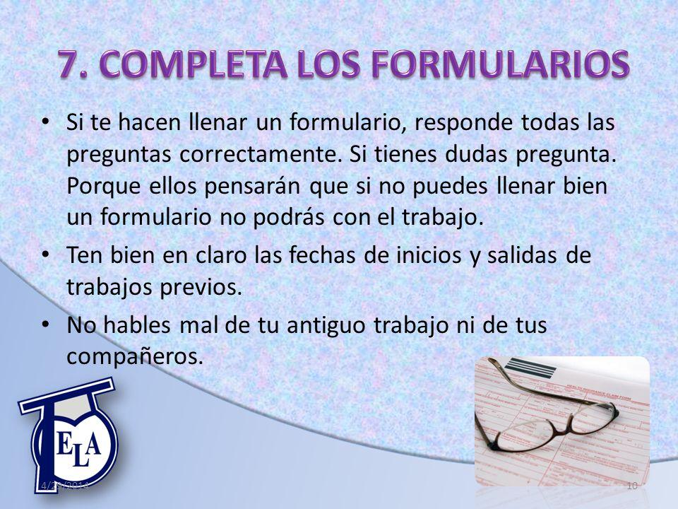 7. COMPLETA LOS FORMULARIOS