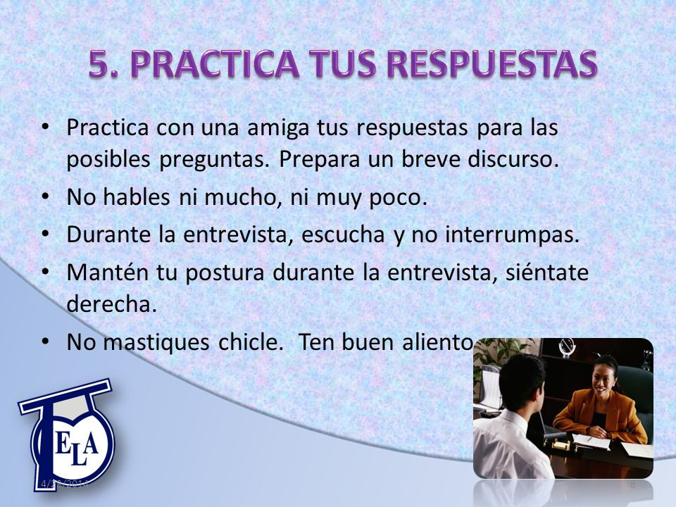 5. PRACTICA TUS RESPUESTAS