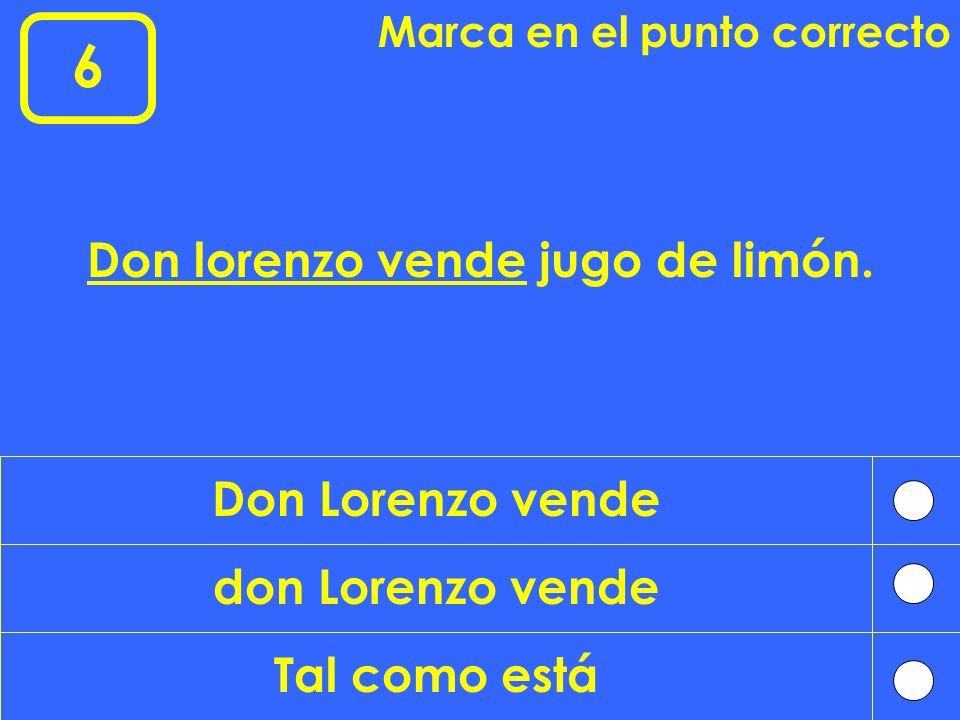 Don lorenzo vende jugo de limón.