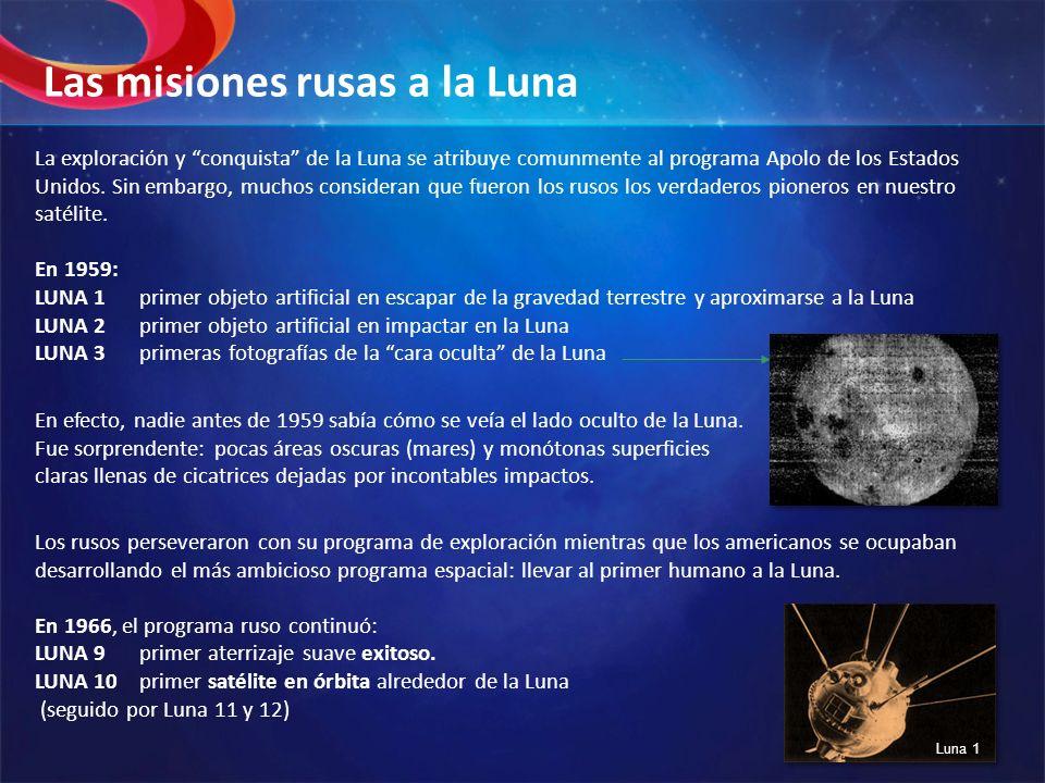Las misiones rusas a la Luna