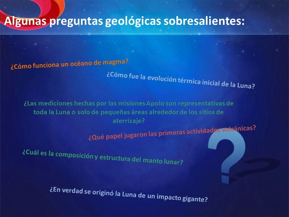 Algunas preguntas geológicas sobresalientes: