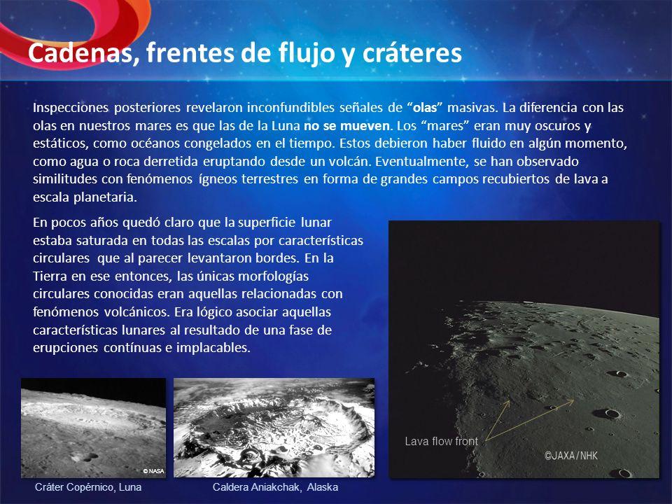 Cadenas, frentes de flujo y cráteres