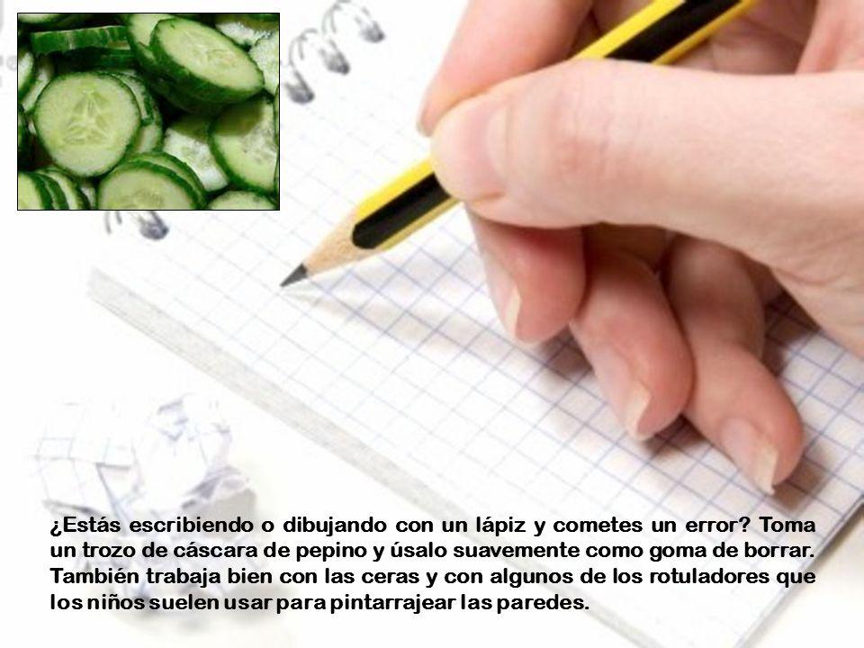 ¿Estás escribiendo o dibujando con un lápiz y cometes un error