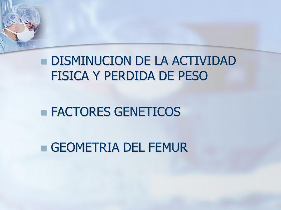 DISMINUCION DE LA ACTIVIDAD FISICA Y PERDIDA DE PESO