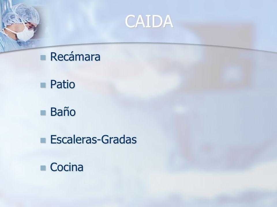 CAIDA Recámara Patio Baño Escaleras-Gradas Cocina