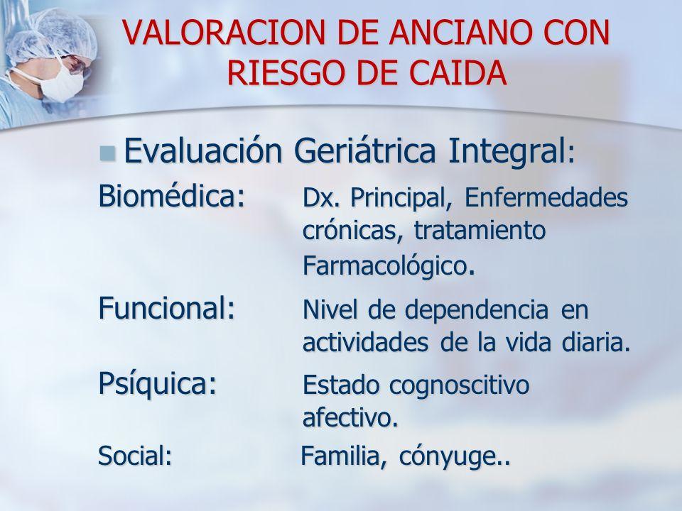 VALORACION DE ANCIANO CON RIESGO DE CAIDA
