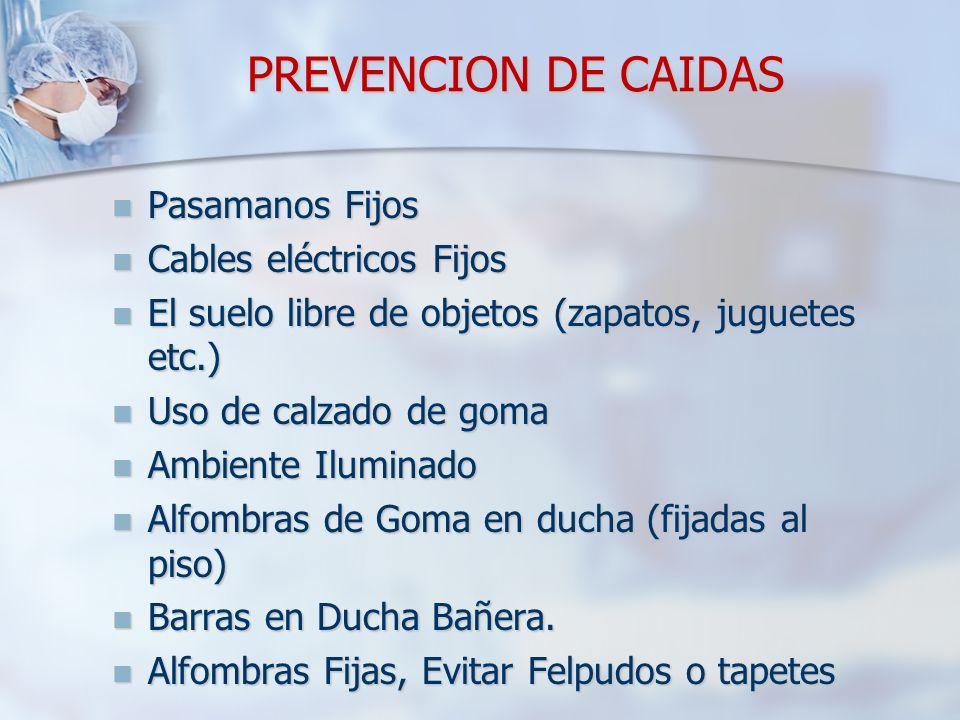 PREVENCION DE CAIDAS Pasamanos Fijos Cables eléctricos Fijos