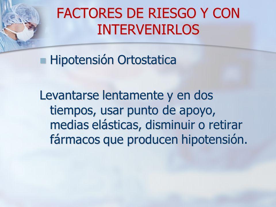 FACTORES DE RIESGO Y CON INTERVENIRLOS