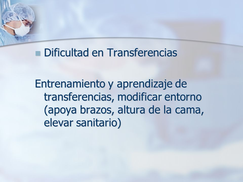 Dificultad en Transferencias