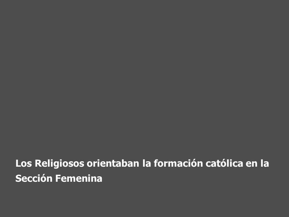 Los Religiosos orientaban la formación católica en la Sección Femenina