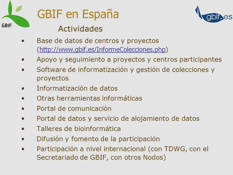 GBIF en España Actividades
