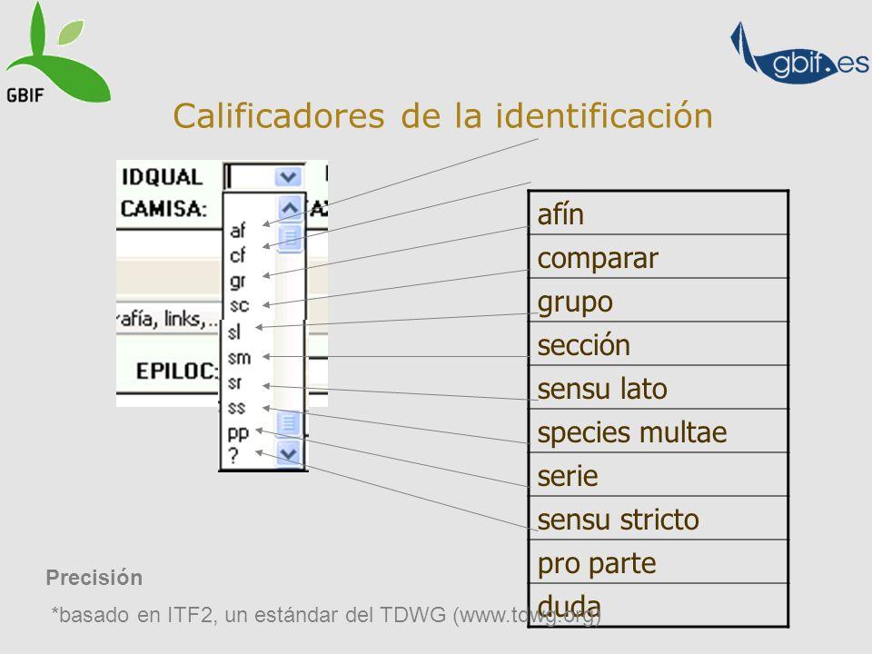 Calificadores de la identificación