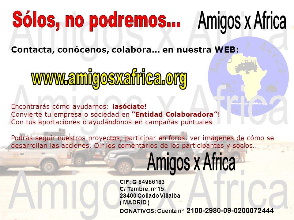 Amigos x Africa Sólos, no podremos... Amigos x Africa