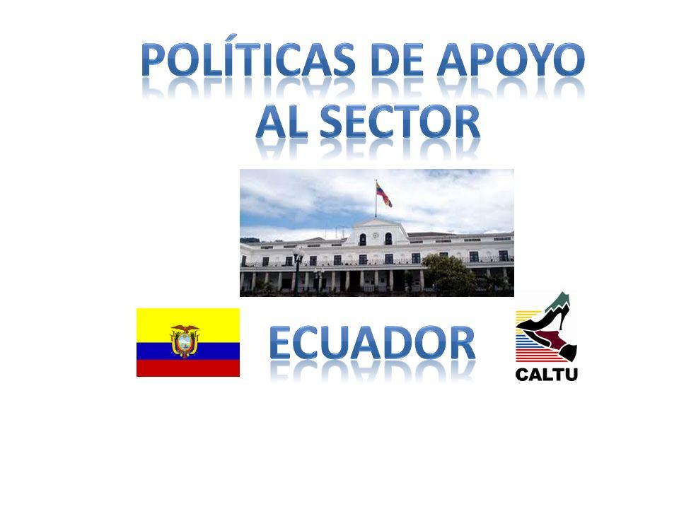 Políticas de apoyo al sector Ecuador
