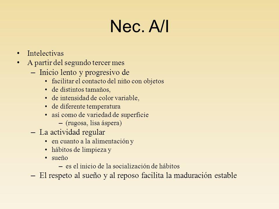 Nec. A/I Inicio lento y progresivo de La actividad regular
