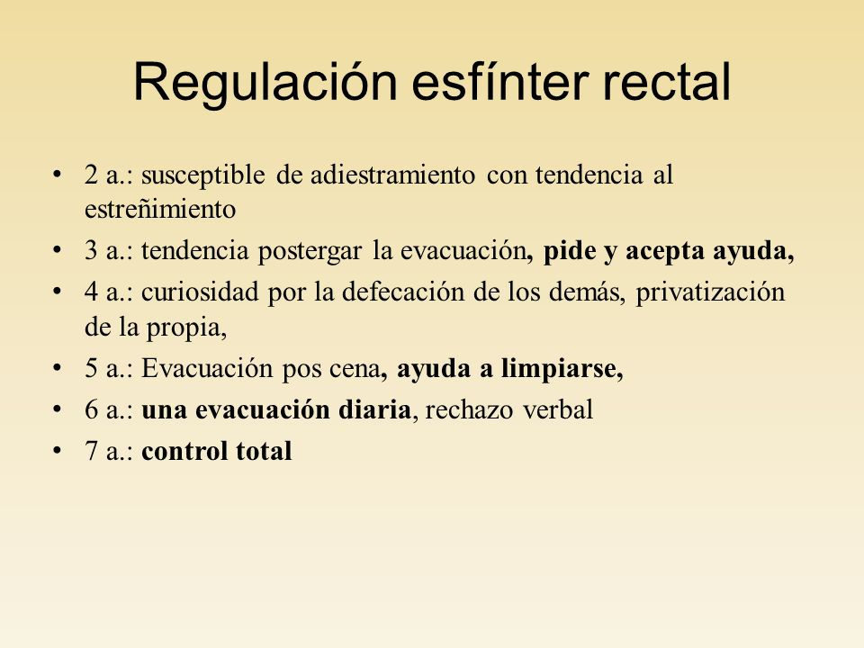 Regulación esfínter rectal