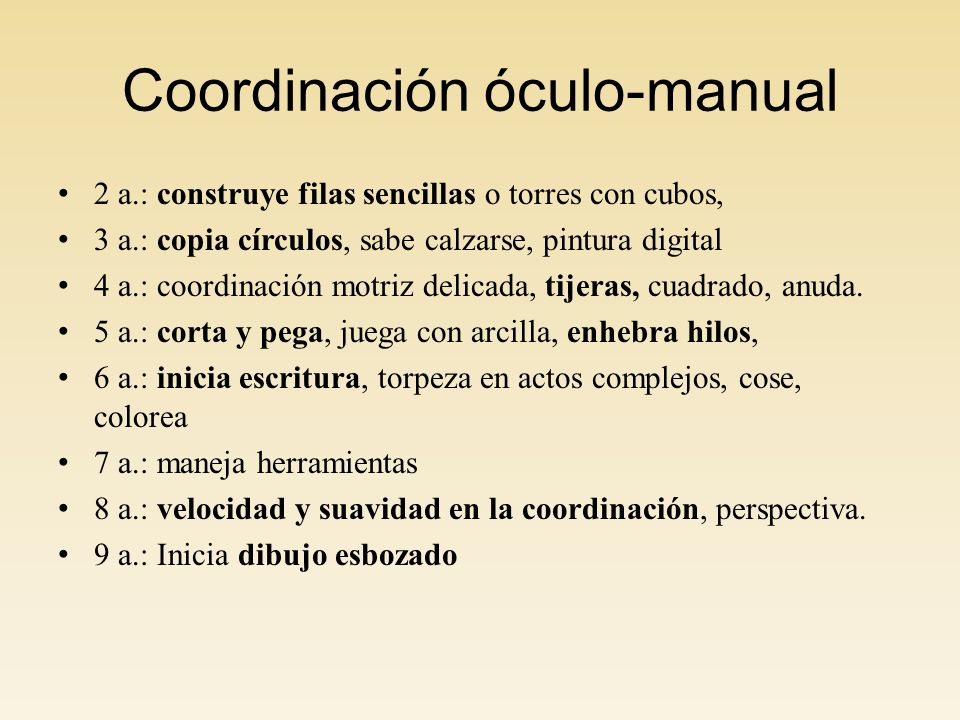 Coordinación óculo-manual